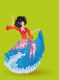 De dans van de zigeuner Stock Illustratie