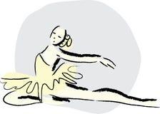 De dans van het ballet Stock Foto