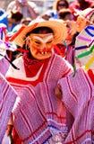 De dans van het masker onder de zon Stock Foto