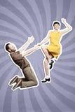 De dans van het rots` n ` broodje boogie woogie royalty-vrije stock afbeelding
