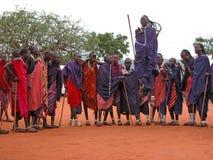 De dans van Masai Royalty-vrije Stock Afbeeldingen