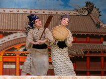 De Dans van Okinawan Stock Afbeeldingen