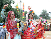 De dans van Rajasthani Royalty-vrije Stock Foto's