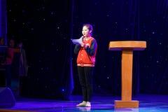 De Dansacademie die van hofmaarschalk jaarlijkse Peking van het de dansonderwijs van test opmerkelijke kinderen ` s de voltooiing royalty-vrije stock foto's
