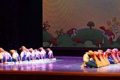 De Dansacademie die van Peking van de arbeidsglorie van het de dansonderwijs van test opmerkelijke kinderen ` s de voltooiingsten Royalty-vrije Stock Fotografie
