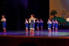 De Dansacademie die van Peking van de arbeidsglorie van het de dansonderwijs van test opmerkelijke kinderen ` s de voltooiingsten Royalty-vrije Stock Afbeelding