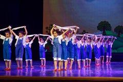 De Dansacademie die van Peking van de arbeidsglorie van het de dansonderwijs van test opmerkelijke kinderen ` s de voltooiingsten Stock Afbeelding