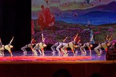 De de Dansacademie die van Peking van Kinderen` s Korpsen van het de dansonderwijs van test opmerkelijke kinderen ` s de voltooii royalty-vrije stock fotografie