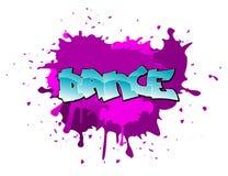 De dansachtergrond van Graffiti stock illustratie