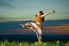 De dansen van de zonsondergang Royalty-vrije Stock Foto