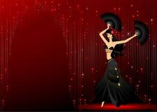 De dansen van het meisje royalty-vrije illustratie