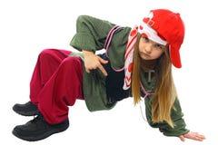 De dansende heup-hop van het meisje Stock Afbeeldingen