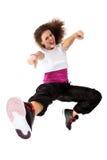 De dansende heup-hop van het meisje Stock Foto