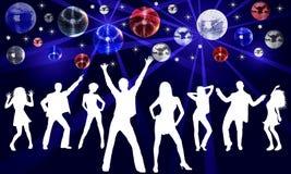 De Dansende Illustratie van de disco Royalty-vrije Stock Afbeeldingen