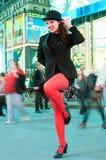 De dansende jonge actrice bevordert muzikaal Chicago Royalty-vrije Stock Afbeelding
