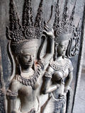 De dansende meisjes van Apsara, Kambodja Royalty-vrije Stock Foto