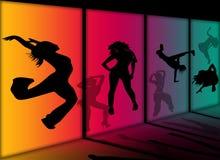 De dansende meisjes van de disco Stock Fotografie