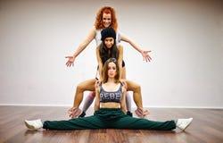 De Dansende Meisjes van Hip Hop Royalty-vrije Stock Fotografie