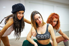 De Dansende Meisjes van Hip Hop Royalty-vrije Stock Afbeelding