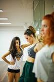De Dansende Meisjes van Hip Hop Stock Afbeelding