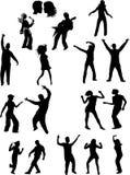 De dansende mensen van het overleg Royalty-vrije Stock Afbeeldingen