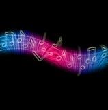 De dansende Nota's van de Muziek Royalty-vrije Stock Afbeeldingen