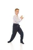 De dansende schooljongen Stock Foto's