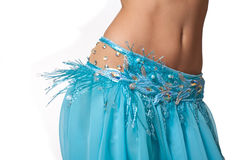 De danser die van de buik haar heupen schudt Stock Fotografie