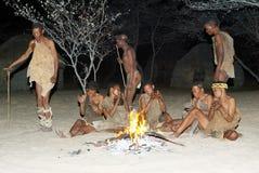 De danser van Bosjesmannen Stock Fotografie