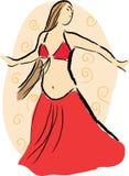 De danser van de buik Royalty-vrije Stock Foto