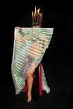 De Danser van de buik met de Vleugels van ISIS Royalty-vrije Stock Fotografie