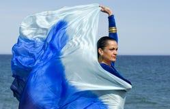 De Danser van de buik op een Strand Royalty-vrije Stock Foto
