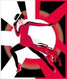 De danser van de club royalty-vrije illustratie