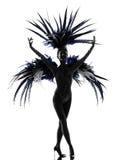 De danser van de de vrouwenrevue van Showgirl het dansen Stock Afbeelding