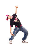 De danser van de glamour in zonnebril Royalty-vrije Stock Afbeelding