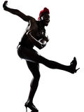 De danser van de mens het dansen Royalty-vrije Stock Foto's