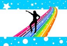 De danser van de regenboog Royalty-vrije Stock Foto's