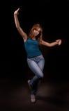 De danser van de schoonheid in dark Stock Foto's