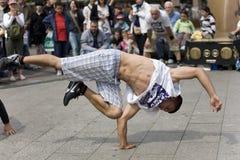 De Danser van de straat in Berlijn royalty-vrije stock foto's