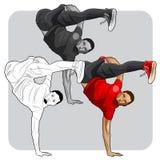 De danser van de straatkunst Royalty-vrije Stock Afbeeldingen