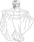 De danser van de vrouw Royalty-vrije Stock Afbeeldingen