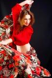 De danser van de zigeuner Royalty-vrije Stock Afbeeldingen