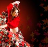 De danser van de zigeuner Stock Foto