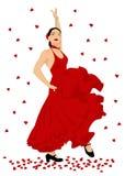De danser van het flamenco vector illustratie