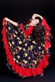 De danser van het flamenco in motie Royalty-vrije Stock Afbeeldingen