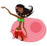 De danser van het hulameisje van Hawaï stock illustratie