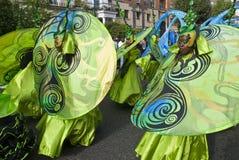 De danser van het Mahonie viert de Wereld Royalty-vrije Stock Afbeeldingen