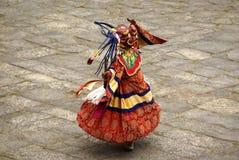 De danser van het masker. Stock Afbeeldingen