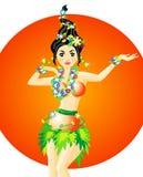 De Danser van Hula Royalty-vrije Stock Afbeelding