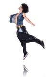 De danser van rapporteur in brede broek Royalty-vrije Stock Afbeelding